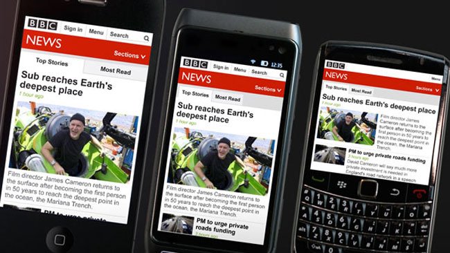 BBC News Mobile website