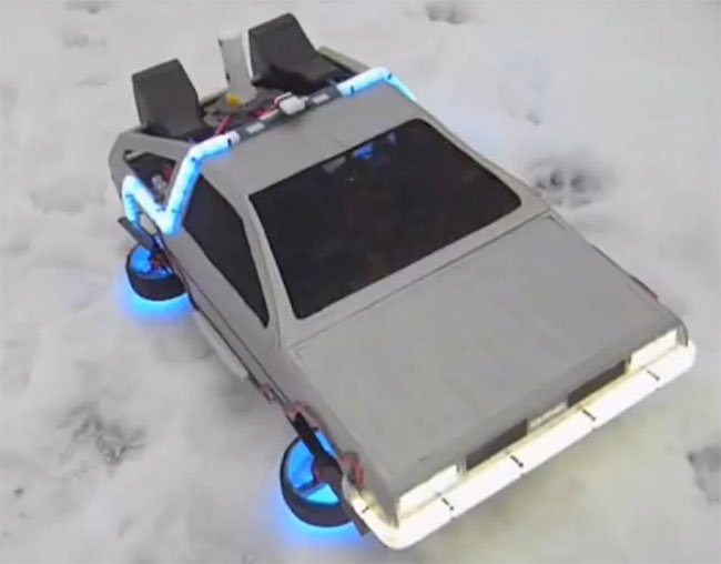 Back to the Future Flying DeLorean Quadrotor