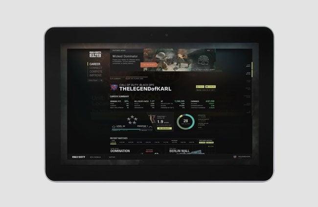 Call of Duty Elite Tablet App