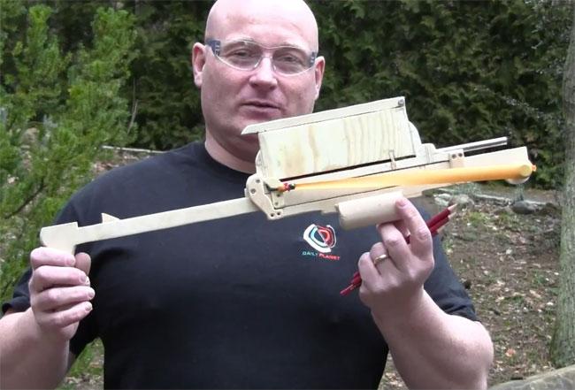 DIY-Pump-Action-Pencil-Crossbow
