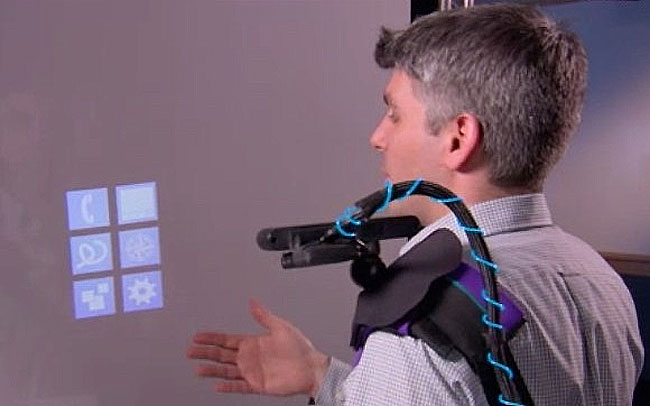Kinect Wearable Multitouch Projector