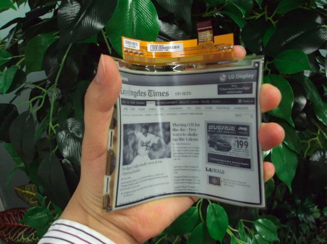 LG E-Paper Flexible Display