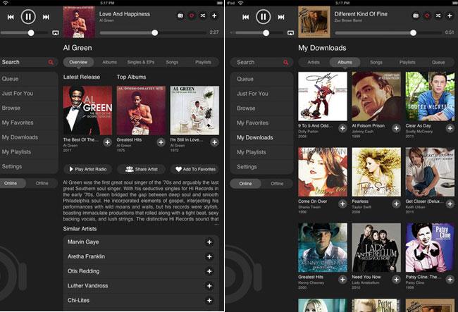 MOG iPad App