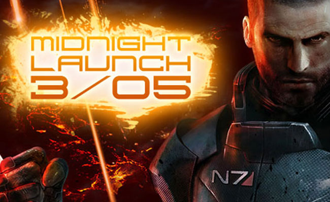 Gamestop Mass Effect 3 Midnight openings