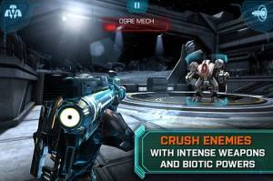 Mass Effect Infiltrator iOS App Lands