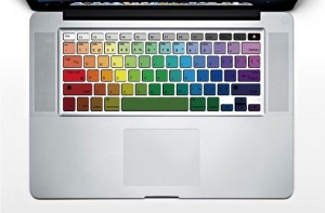 Rainbow Keyboard decal