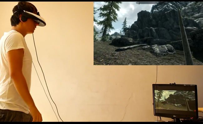 Skyrim-Virtual Reality Kinect