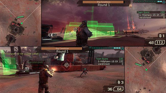 Starhawk Two Player Screen