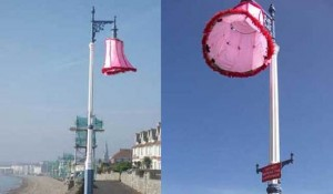 Lampshade Used as Protest vs. Bright Streetlights