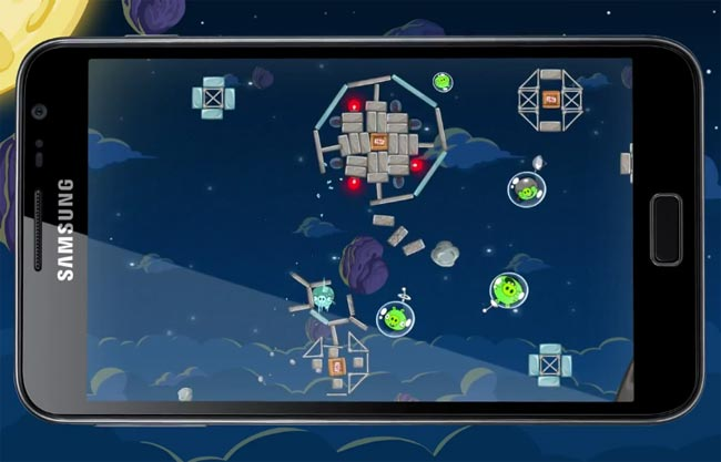 Angry Birds Space Hits Samsung Galaxy Note