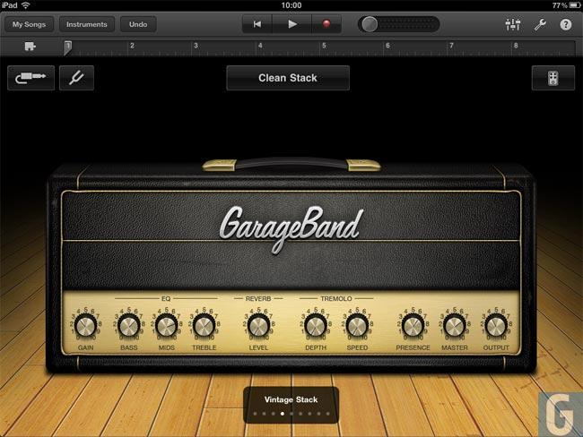 GarageBand iPad
