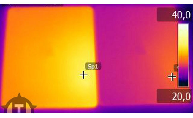 ipad vs ipad 2 thermal image