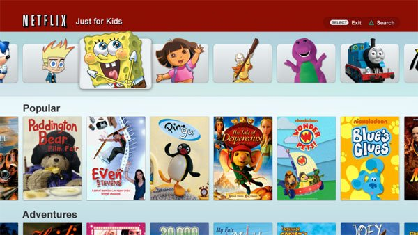 Netflix Just for Kids