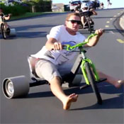 Trike Drifting Looks Awesome (video)
