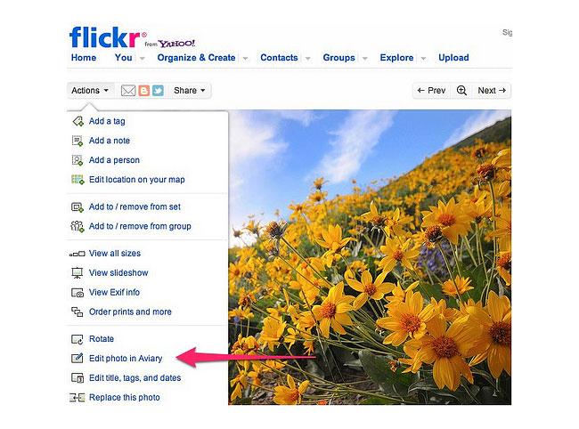 Flickr Aviary Photo Editing