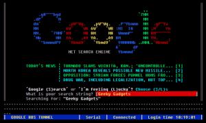 Google a la 1980s Hits Web