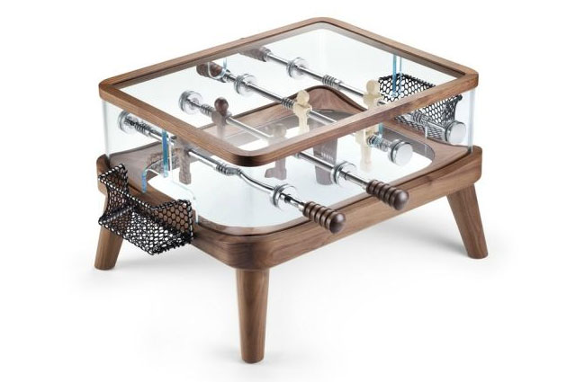 Intervallo Compact Foosball Coffee Table - Foosball coffee table with stools
