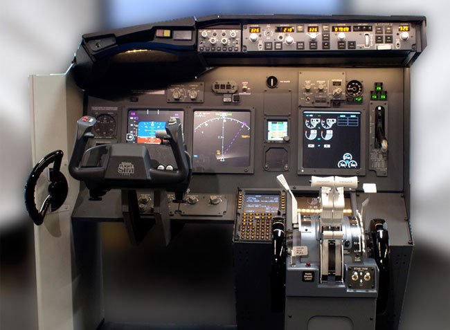 Jetmax 737 flight simulator console kit creates the for Build your own house simulator