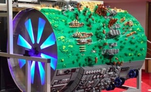 Giant Lego Star Wars Diorama Spins To Play Movies Theme (video)