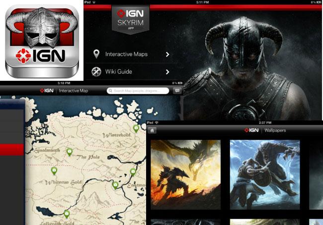 Skyrim IGN iPad App