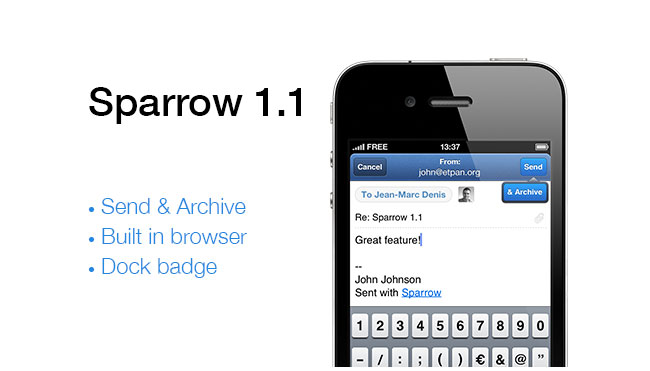 Sparrow Mail iPhone