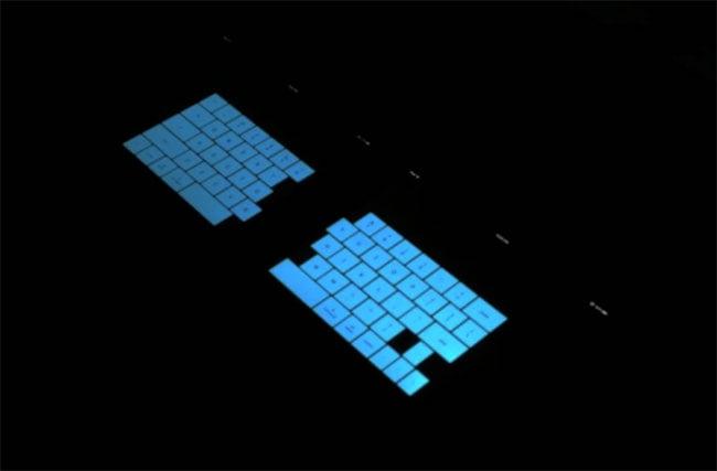 Virtual Tron iPad Keyboard