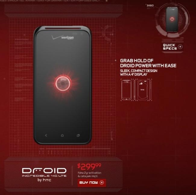 Droid Incredible 4G LTE