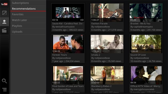 Google TV YouTube App Gets Updated