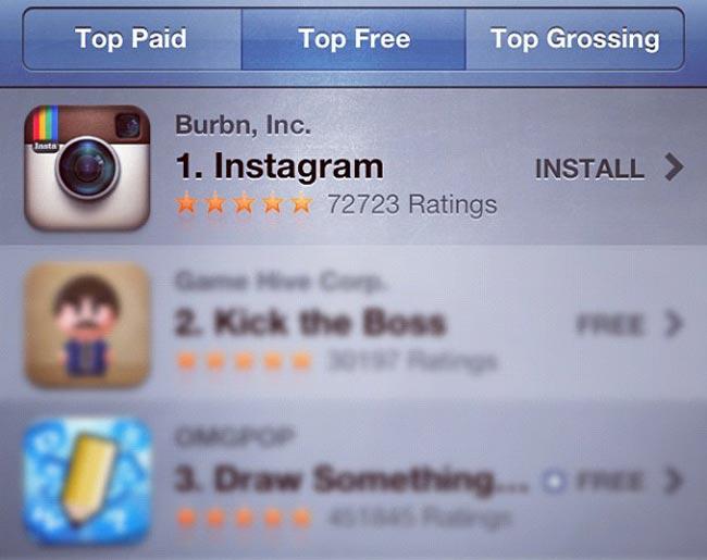 Instagram Tops iOS App Store Charts