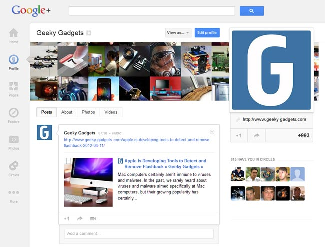 New Google+
