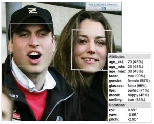 Age Detection through Face.com