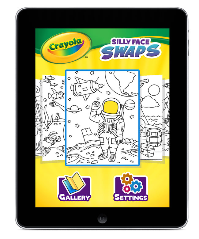 Crayola Coloring Pages App : Griffin and crayola launch silly face swaps hd coloring