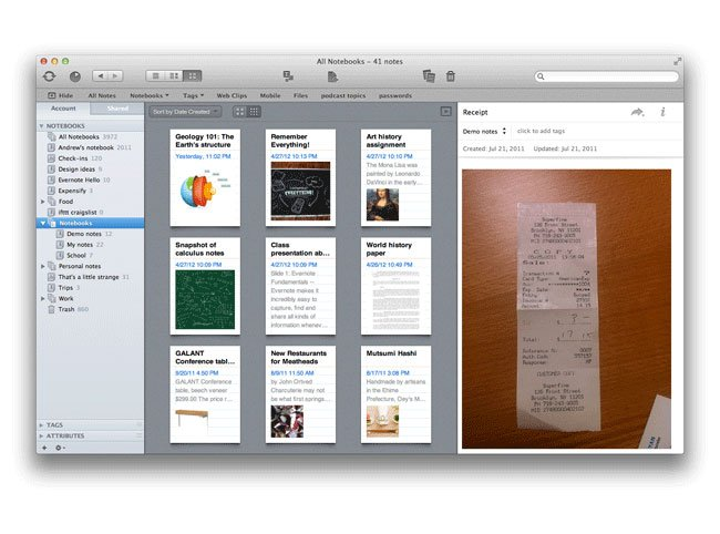 Evernote Mac App Updated