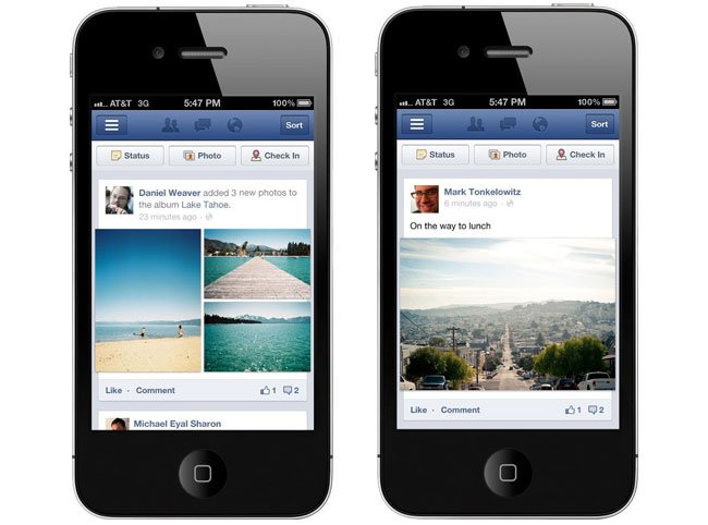 facebook revamps its mobile site ios and android apps itcitysip. Black Bedroom Furniture Sets. Home Design Ideas