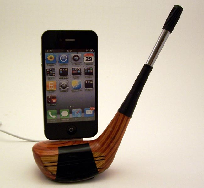 Golf Club iPhone Dock