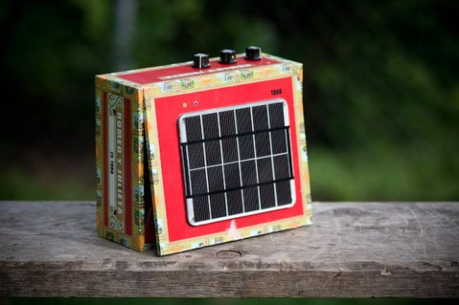 Solar Powered Cigar Box Amp