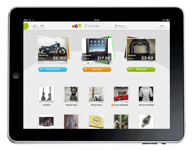 eBay 2 iPad App