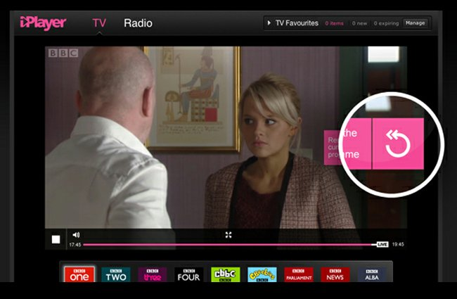 BBC iPlayer Rewind Live TV