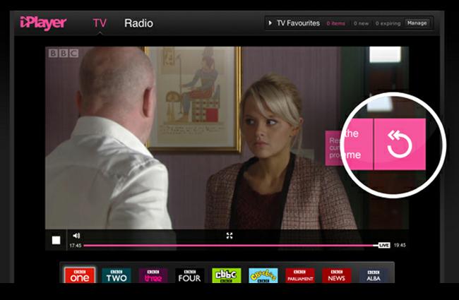 BBC iPlayer Rewind Live TV