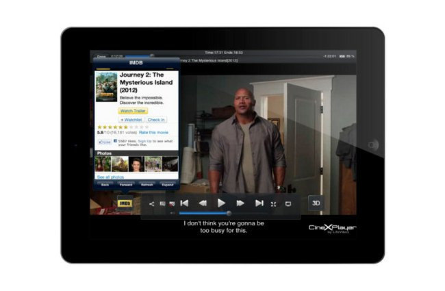 CineXPlayer iPad app