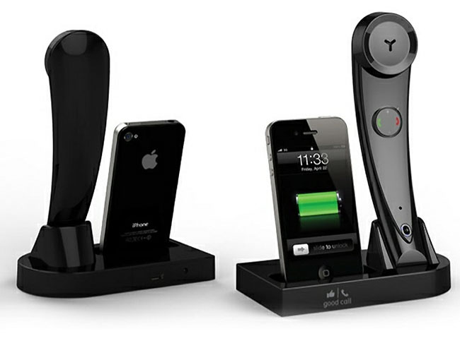 gofusion good call ig1 iphone dock and bluetooth handset. Black Bedroom Furniture Sets. Home Design Ideas