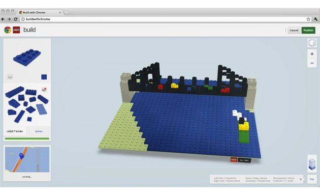 Lego and google launch chrome lego 3d building app video 3d house builder online