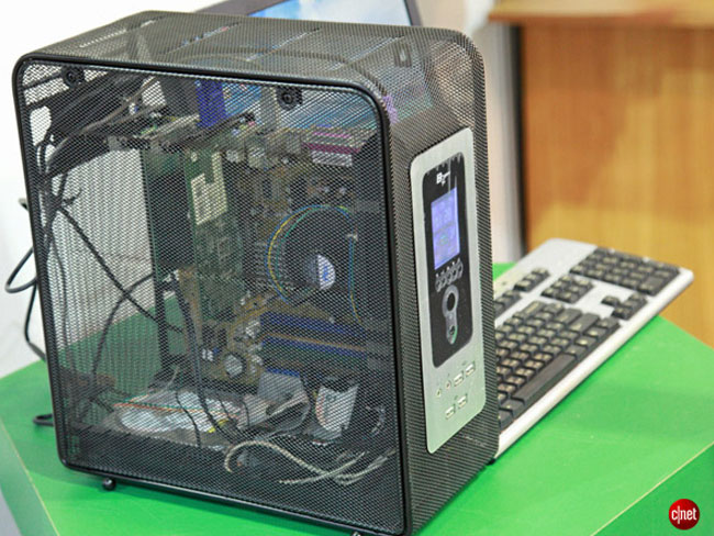 Green Mesh PC Case