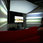 Infinity-by-Nine MIT Media Lab Immersive Peripheral Vision Projection System (video)