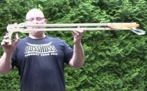 Throwing Knife Slingshot Created By Slingshot Master Jorg Sprave (video)