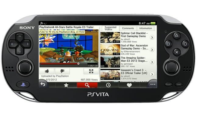 PS Vita YouTube App