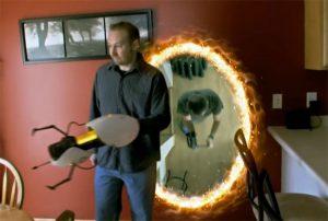 Real Life Portal Gun Antics With Friends (video)