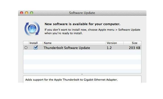 Thunderbolt Update