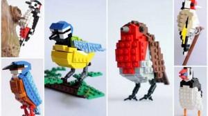 Artist Builds Birds from Lego