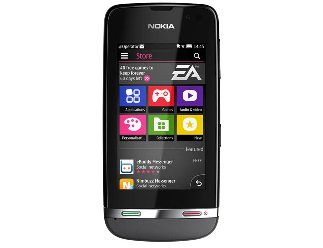 The Nokia Asha 306 features a 3 inch scratch resistant touchscreen